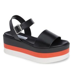 Steve Madden Holly Stripe Platform Sandal 9 🌿